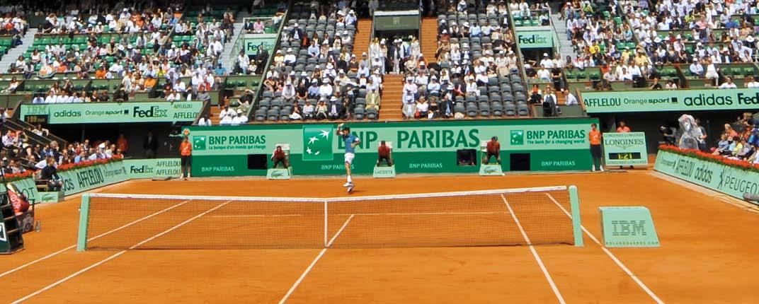 Tennis : Nouvel habillage de court pour BNP Paribas