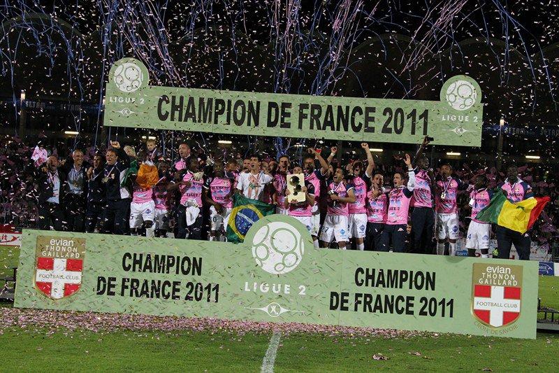 Les 3 promus en L1 (Evian TG, Ajaccio et Dijon) sur les réseaux sociaux