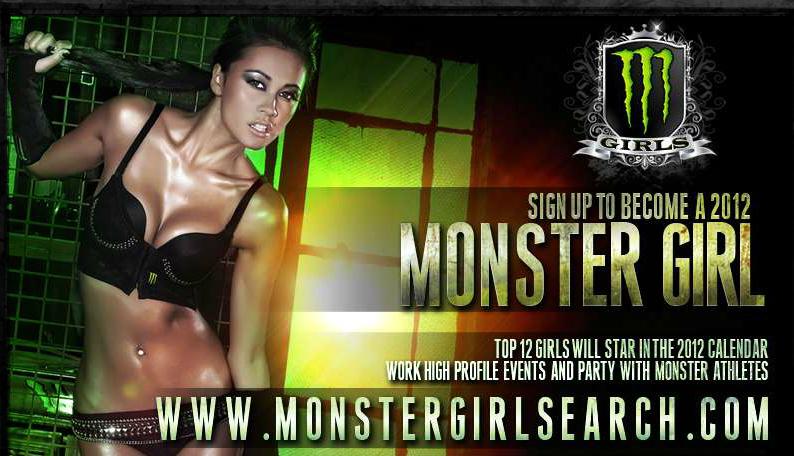 Sexy : Votez pour les prochaines Monster Girls 2012 (Monster Energy) 4 françaises dans le Top 50 !