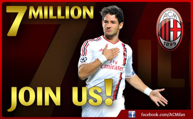 Milan AC dépasse les 7 millions de fans sur facebook