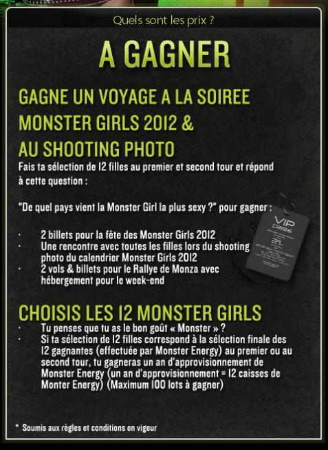 Monster Energy dévoile ses Monster Girls 2012