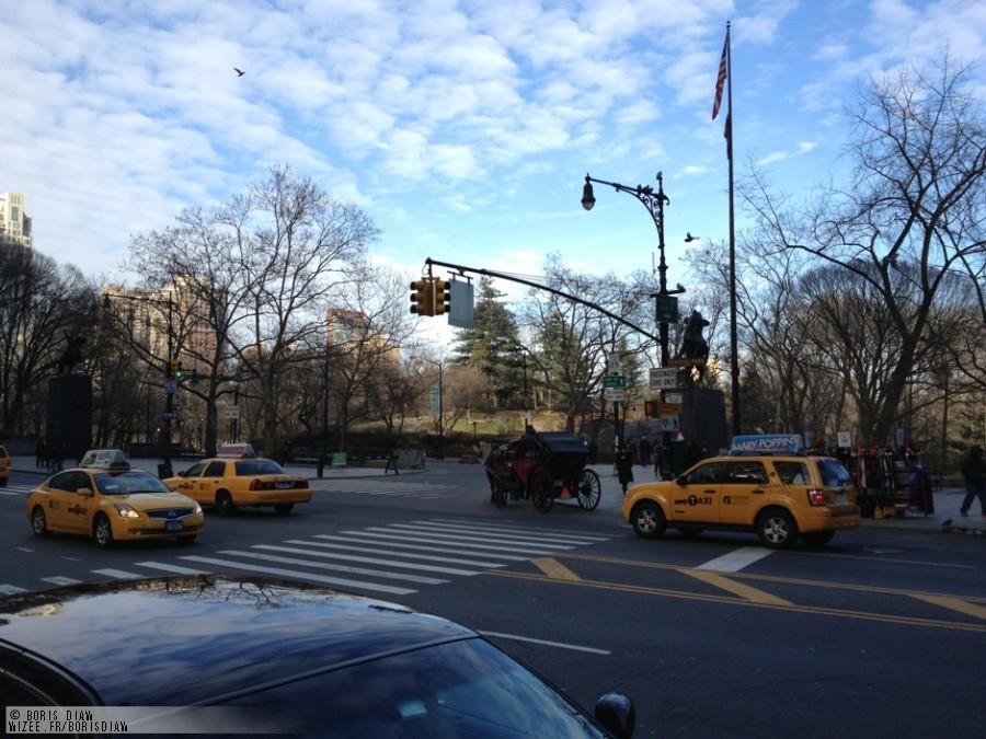 (Twitpic) Boris Diaw à Central Park – New York
