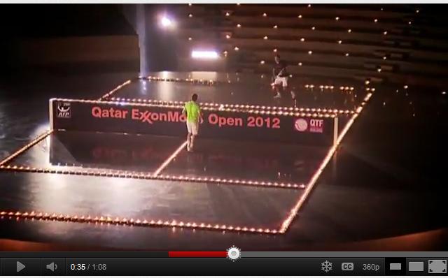 Nadal et Federer jouent sur un terrain de bougies