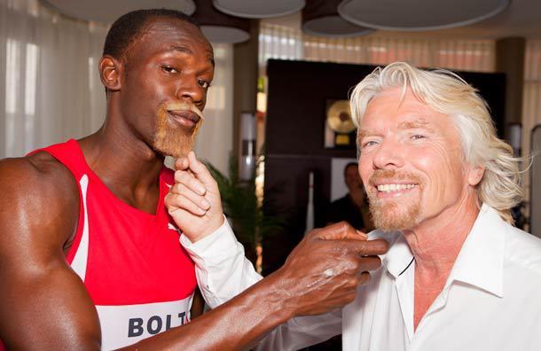 Virgin Media partenaire d'Usain Bolt qui se prend pour Richard Branson