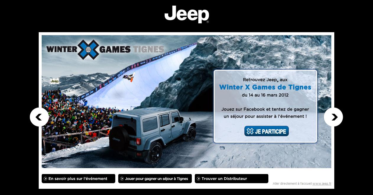 Jeep vous envoie aux Winter X Games de Tignes