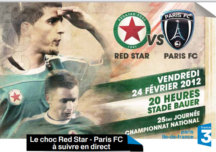 France 3 diffuse ce soir le derby Red Star / Paris FC en streaming