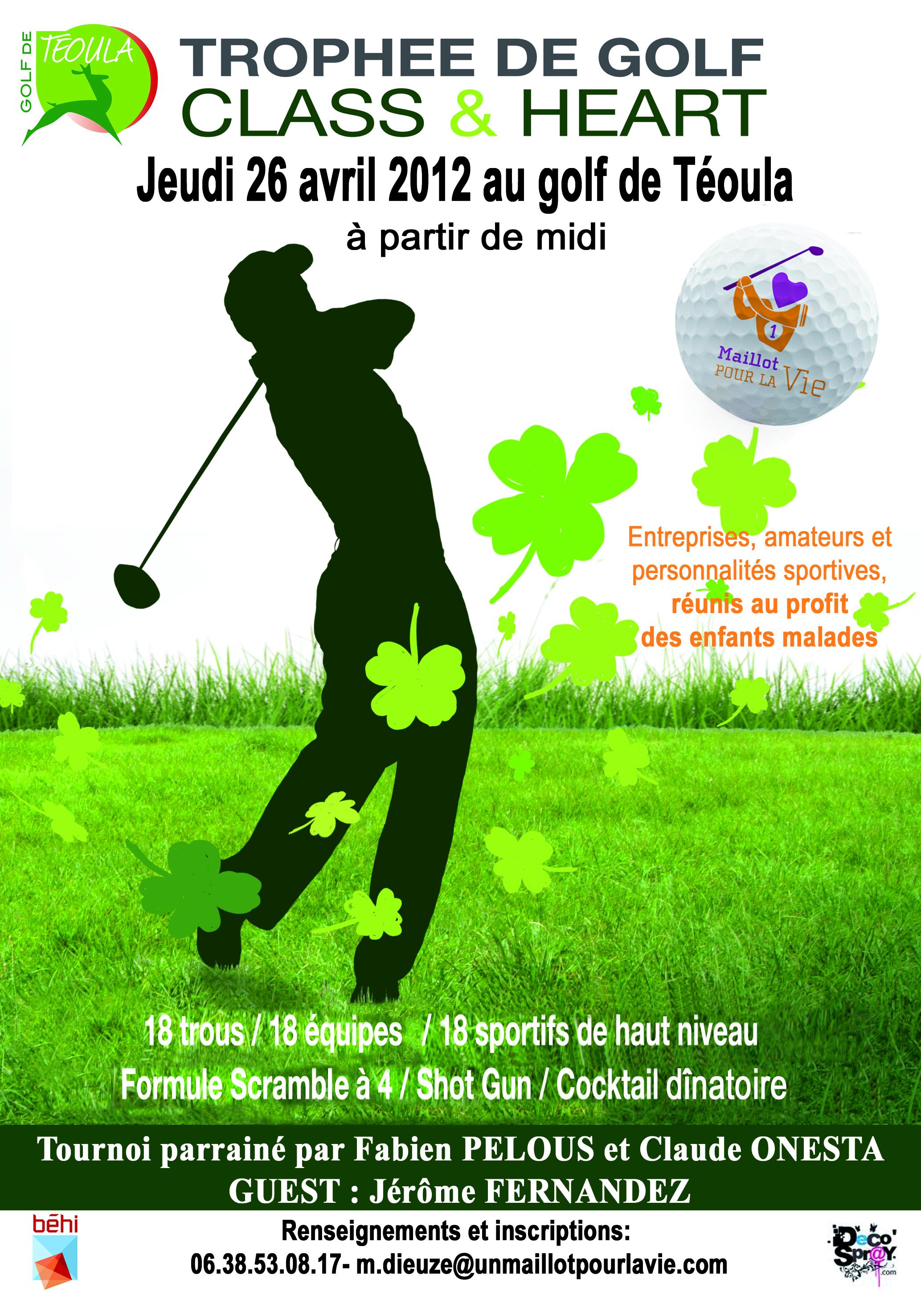 1 Maillot Pour la Vie organise son tournoi de golf à destination des entreprises