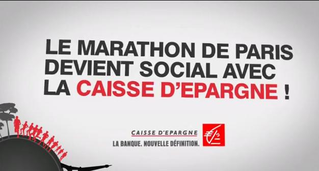 Le Marathon de Paris devient social avec la Caisse d'Epargne