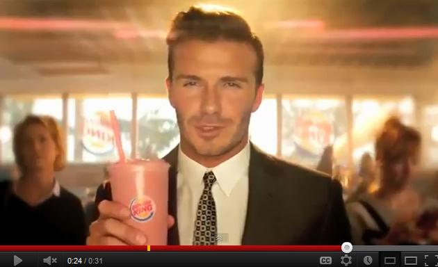 David Beckham fait le beau pour Burger King