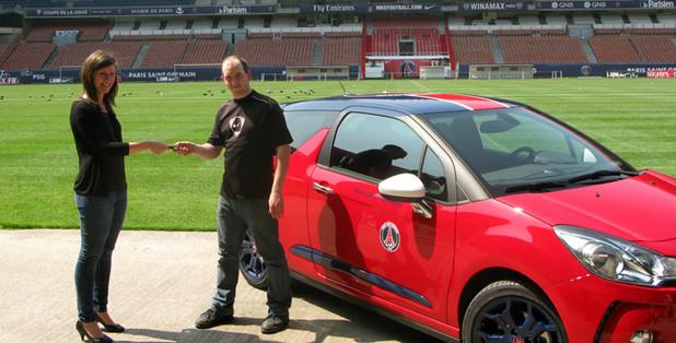 Le PSG fait gagner une Citroën DS3 aux couleurs du club à un de ses supporters