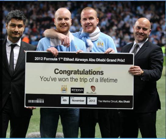 Etihad Airways envoie un fan de Manchester City au Grand Prix d'Abu Dhabi
