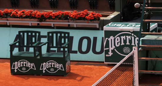 Perrier prolonge son partenariat avec Roland-Garros jusqu'en 2018
