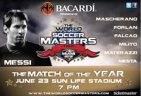 The World Soccer Masters : le tournoi qui réunit Messi, Drogba, Mascherano à Miami