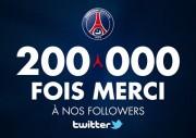 200 000 followers sur Twitter PSG