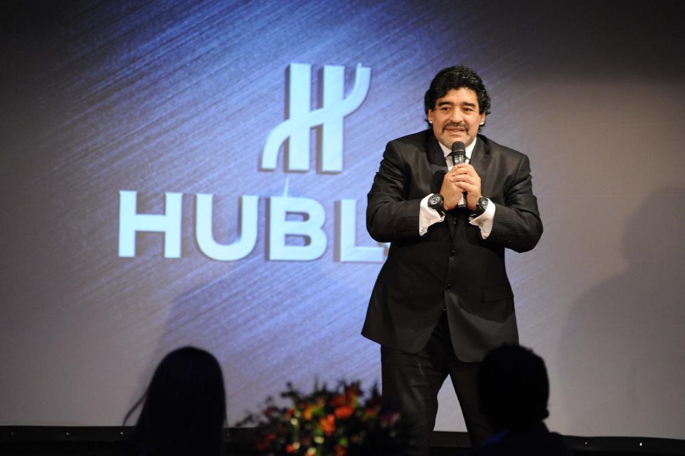 Maradona et sa «Hublot King Power Maradona»
