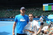 Andy Roddick et Benoit Mauguin - Open d'Australie 2102