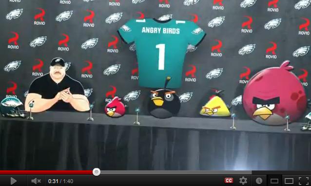NFL : Angry Birds devient partenaire des Philadelphia Eagles