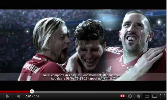 Découvrez la nouvelle pub Bwin.fr avec Benzema, Ribery, Robben, Xabi Alonso, Özil…