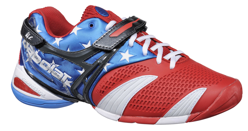 Babolat et Roddick se mettent à l'heure américaine avec une basket au design 100% USA