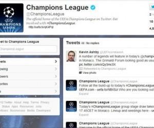 La Ligue des Champions et l'Europa League arrivent sur twitter