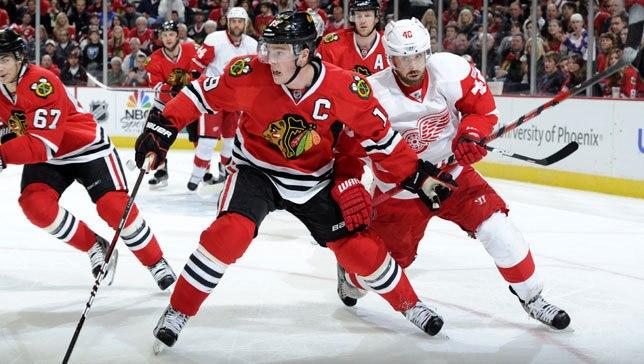 NHL chicago blackhawks detroit redwings twitter concours