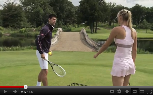 Novak Djokovic défie Maria Sharapova au Power Golf