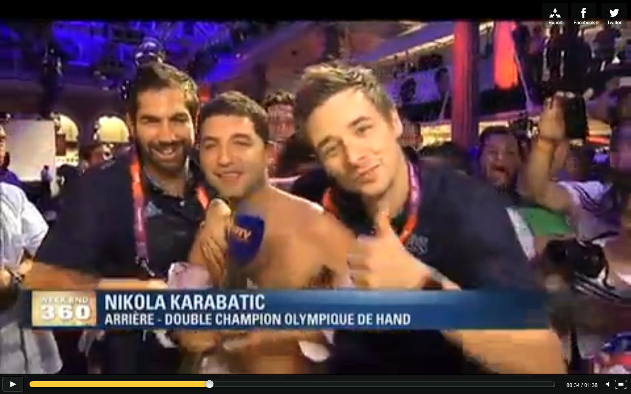 Karabatic et Barachet mettent à nu le présentateur de BFMTV et brisent le plateau de L'Equipe TV avec Onesta