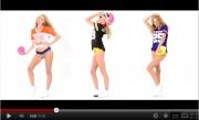 victoria's secret pink NFL 2012 glamour