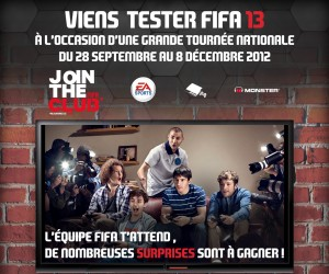 FIFA 13 part en tournée dans toute la France