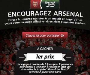 Carlsberg diffusera des messages des fans d'Arsenal à l'Emirates Stadium