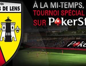 PokerStars.fr organise un tournoi de poker durant un match du RC Lens