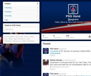 Le PSG Handball débarque sur Twitter