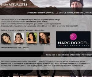 Marc Dorcel-Dakar 2013 : Claire Castel élue Miss Dakar #69 et remplace Anna Polina sur la moto #69