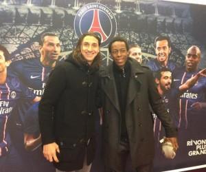 Twitpic : Gaël Monfils pose avec Zlatan Ibrahimovic lors de PSG-OM