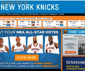 NBA – Le site Nets.com (Brooklyn) vous amène sur le site du voisin des New York Knicks