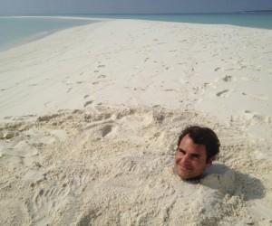 Roger Federer partage un moment unique avec ses 12 millions de Fans Facebook