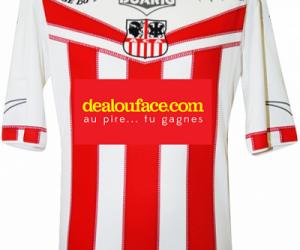 dealouface.com sponsor maillot de l'AC Ajaccio pour le match face au PSG
