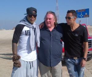 Twitpic : Djibril Cissé pose avec Gerard Depardieu et Nene