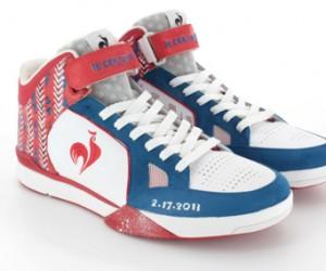 Découvrez la paire de basket bleu-blanc-rouge Le Coq Sportif de Joakim Noah pour le All Star Game 2013 à Houston !