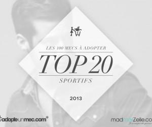 Découvrez le TOP 20 des sportifs à adopter !