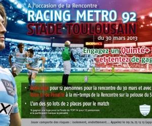 Remportez votre loge pour 12 personnes au Stade de France pour Racing Metro 92 / Stade Toulousain !