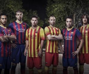 FC Barcelone – Nouveaux Maillots 2013/2014 Nike (Domicile et extérieur)