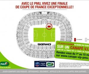 Vivez la Finale de la Coupe de France depuis un canapé VIP installé au bord de la pelouse du Stade de France !