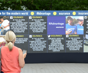 L'US OPEN lance son « social media wall »