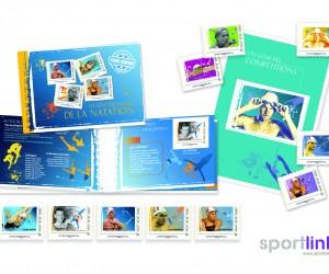 La Poste édite des timbres Florent Manaudou, Yannick Agnel et Camille Muffat