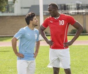 Usain Bolt donne une leçon de vitesse à Sergio Agüero avant le derby de Manchester