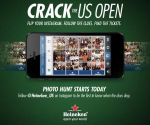 US OPEN 2013 – Heineken lance une chasse au trésor photo sur Instagram