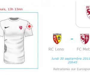 Deal sponsoring – Votre logo sur le maillot du FC Metz contre le RC Lens (diffusion Eurosport)