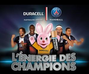 Duracell devient sponsor du PSG Handball et s'affiche au dos du maillot