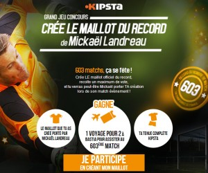 Mickaël Landreau portera un maillot collector Kipsta dessiné par un fan pour son 603e match dans l'élite